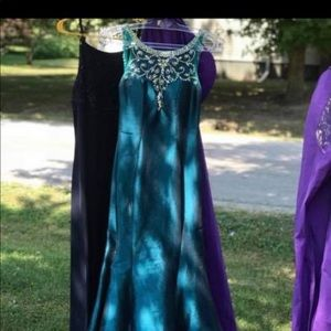 Mac Duggal prom dress.